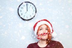 Alcohol de la Navidad y del Año Nuevo Concepto de un día de fiesta y de días Imagen de archivo libre de regalías