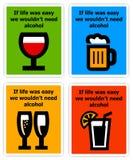 Alcohol de la necesidad libre illustration