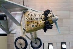Alcohol de los aviones de St. Louis de Charles Lindbergh en los forjadores Imagen de archivo libre de regalías