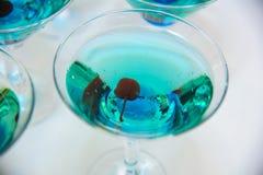 Alcohol de los vidrios de Champán en el partido Imagenes de archivo