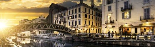Alcohol de Milano, Italia Imágenes de archivo libres de regalías