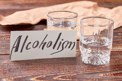 Alcohol dependence concept. Royalty Free Stock Images