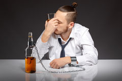 Alcohol dependence in men Stock Photography