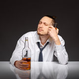 Alcohol dependence in men Stock Image