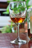 Alcohol drink. For celebration  in garden Stock Photo