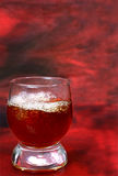 Alcohol drink is in a glass Stock Image