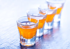 Alcohol drink in glasses Stock Photography