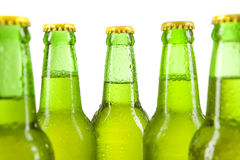 Alcohol drink with green bottles Royalty Free Stock Photo