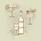 Alcohol drink icons Stock Photo