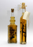 Alcohol drink III. Herbal alcohol drinks in traditional bottles stock photo