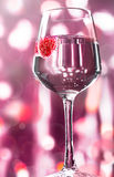 Alcohol drink with raspberry Royalty Free Stock Image
