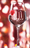 Alcohol drink with raspberry Stock Photo
