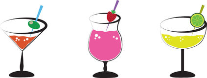 Alcohol Drinks vector illustration