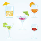 Alcohol drinks Stock Image