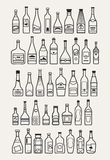 Alcohol, drinks, beverage icons. Alcohol, drinks, beverage and bottle icons, vector illustration Stock Photography