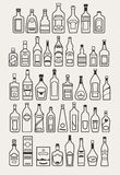 Alcohol, drinks, beverage icons Royalty Free Stock Photo