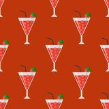 Alcohol drinks beverages cocktail seamless pattern lager container drunk daiquiri glasses vector illustration. Alcohol drinks beverages cocktail daiquiri lager Royalty Free Stock Image