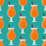 Alcohol drinks beverages cocktail seamless pattern lager container. Alcohol drinks beverages cocktail daiquiri lager refreshment container seamless pattern menu Stock Photo