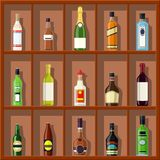 Alcohol drinks collection. royalty free stock photo