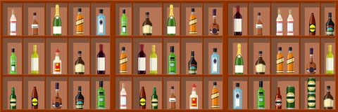 Alcohol drinks collection. royalty free stock photos