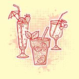 Alcohol drinks icons Royalty Free Stock Image