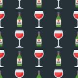 Alcohol drinks seamless pattern beverages cocktail bottle drunk glasses vector illustration. Alcohol drinks seamless pattern beverages cocktail bottle lager Royalty Free Stock Photo