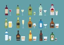 Alcohol drinks set. Stock Photography