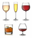 Alcohol drinks set. Stock Images