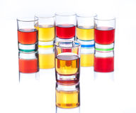 Alcohol drinks on white background Royalty Free Stock Photo