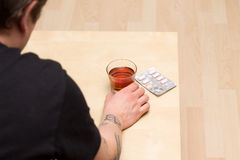 Alcohol and drug abuse Stock Photography