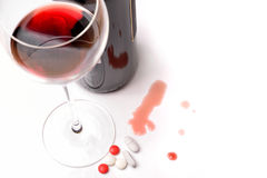 Alcohol and drug abuse Stock Image