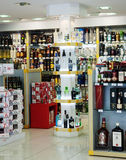 Alcohol duty-free store Royalty Free Stock Image