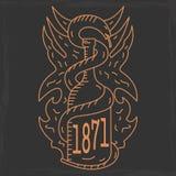 Alcohol emblem Stock Images