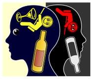 Alcohol en Depressies royalty-vrije illustratie