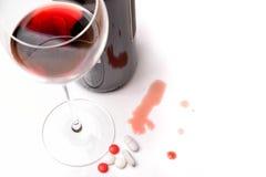 Alcohol en druggebruik Stock Afbeelding