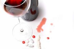 Alcohol en druggebruik Royalty-vrije Stock Afbeeldingen
