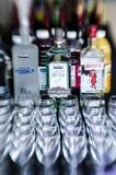 Alcohol en la barra Fotos de archivo libres de regalías