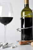 Alcohol en pillen stock foto
