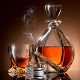 Alcohol en sigaar royalty-vrije stock foto