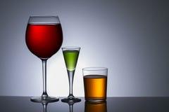 alcohol en vidrio imagen de archivo libre de regalías
