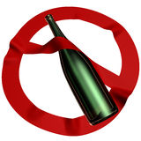 Alcohol is forbidden Stock Image