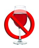 Alcohol is forbidden. Sign on white background Royalty Free Stock Images