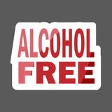 Alcohol free colored sticker. Vector icon alcohol. Layers groupe. D for easy editing illustration. For your design royalty free illustration