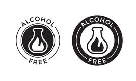 Alcohol free icon for skin and body care cosmetic product. Vector alcohol free vial symbol. Alcohol free icon for skin and body care cosmetic product. Vector vector illustration