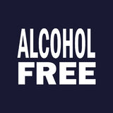 Alcohol free. Vector on dark blue background. Alcohol free. Vector icon on dark blue background Royalty Free Illustration