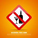 Alcohol free zone Royalty Free Stock Image