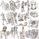 alcohol Freehands, Hand gezeichnete Sammlung Linie Kunst vektor abbildung