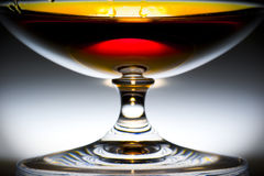 Alcohol in glass. With ice, game of light on the blocks of ice Royalty Free Stock Photography