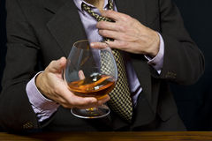 Alcohol in glass Stock Photos