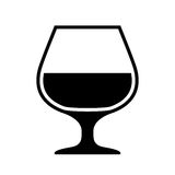 Alcohol glass icon. Vector illustration Royalty Free Stock Photography